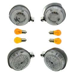 SET Blinker rund Klarglas incl. Leuchtmittel 12V S 50, S 51, SR 50