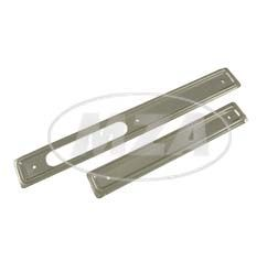 Set Scheuerleisten - rechts + links - Stahl, verzinkt - für Motortunnel Schwalbe KR51