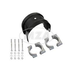 Set Gabelquerjoch / Gabelstabilisator mit Formstücken und Klemmbrücken - empfohlen bei Umbau auf Simson-Enduro-Kotflügel/ Plaste - S51E, S70E