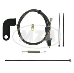 SET Bremslichtschalter mit Befestigungswinkel, schwarz + Kleinteile - KR51/1
