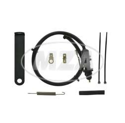 SET Bremslichtschalter mit Befestigungswinkel, schwarz + Kleinteile - S50, S51, S70