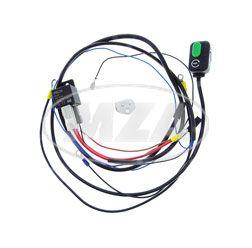 SET Kabelbaum - Anlasserkabel mit Taster, Starterknopf und 12V-Schaltrelais + Schaltplan -  S51, S70, S53, S83