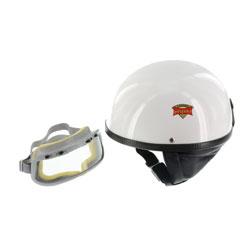"""SET Schutzhelm """"""""PERFEKT"""""""" - Modell P-500 - weiß - Größe L (59-60cm) - mit DDR-Schutzbrille """"""""START"""""""""""