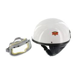 """SET Schutzhelm """"""""PERFEKT"""""""" - Modell P-500 - weiß - Größe M (57-58cm) - mit DDR-Schutzbrille """"""""START"""""""""""