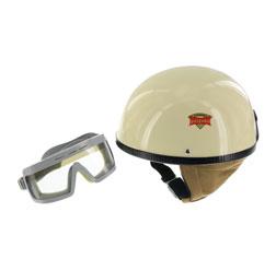 """SET Schutzhelm """"""""PERFEKT"""""""" - Modell P-500 - elfenbein - Größe L (59-60cm) - mit DDR-Schutzbrille """"""""SPORTURA"""""""""""