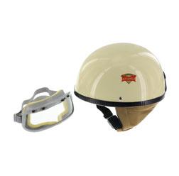 """SET Schutzhelm """"""""PERFEKT"""""""" - Modell P-500 - elfenbein - Größe M (57-58cm) - mit DDR-Schutzbrille """"""""START"""""""""""