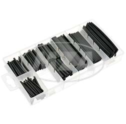Kit de gaines thermorétractables, noir 127pcs