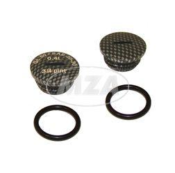 SET Verschlußschraube - Alu carbon -mit O-Ringen  -  S51,S53,S70,SR50,SR80,KR51/2