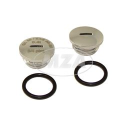 SET Verschlußschraube - Alu chrom -mit O-Ringen  -  S51,S53,S70,SR50,SR80,KR51/2