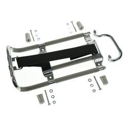 SET Gepäckträger mit Aufbockgriff + Kleinteile - Schwalbe KR51 - graue Distanzstücke