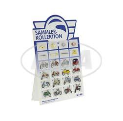 Display SIMSON-Sammlerkollektion mit 24 unterschiedlichen Pins