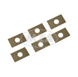 Set, 6 Stück, Sicherungsblech zur Druckplatte BK350