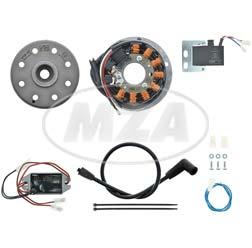 Lichtmagnetzündanlage 12V, 100W AC, passend für Suzuki RV/AP/GT/TS 50/80 + TS 125 - GP 125