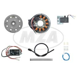 Lichtmagnetzündanlage 12V/ 100W DC - passend für Kreidler K53, alle K54, Flory MF12, MF13, MF22, MF23, MF24, MF30, MF34