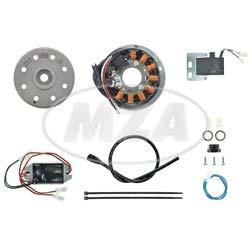Lichtmagnetzündanlage 12V 100W DC - passend für Pannonia 1-Zylinder mit Magnet-Anlage