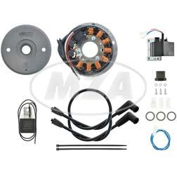 Lichtmagnetzündanlage 12V/ 70W AC - passend für Bultaco 250/ 350, Alpina, Metralla, Sherpa, Matador, Mercurio mit M18-Kurbelwellen-SKM