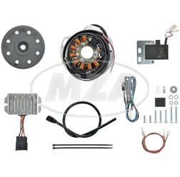 Lichtmagnetzündanlage 12V 100W DC, passend für Jawa + CZ- 1 Zylinder-Motorräder