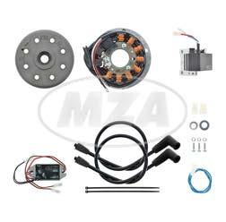 Lichtmagnetzündanlage 12V/ 180W DC - passend für Suzuki T/GT 500/ 20/200/250/350 mit PEI/ CDI-Zündung