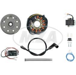 Lichtmagnetzündanlage 12V/ 180W DC - passend für Yamaha CT1, CT2, CT3, AT-M, RS125 (spätere Version)