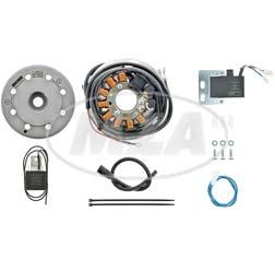 Lichtmagnetzündanlage 12V/ 70W AC - passend für Husqvarna 125-400 m. Motoplat 90/110mm-Adapter