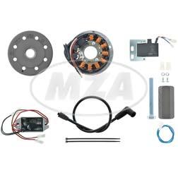 Lichtmagnetzündanlage 12V/ 150 DC - passend für 2T + 4T NSU Fox