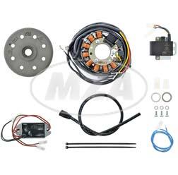 Lichtmagnetzündanlage 12V/ 100W DC - passend für Rotax 124GS + MC, 174GS (SWM), Puch Frigero 125