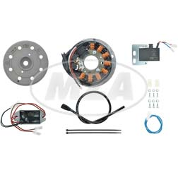 Lichtmagnetzündanlage 12V/ 100W DC - passend für Derbi Variant, SL, SLE, TT, Laguna, C5 Diabolo, RD50, Moto Guzzi 125 Tuttotereno