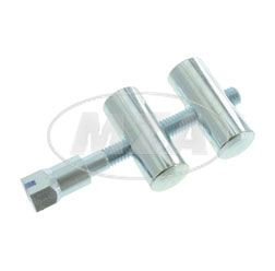 Set tension bolts, front and rear with screw, galvanized - for battery fastening fits AWO 425T