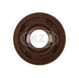 Wellendichtring NJK 8x22x7 - FPM - Viton - braun - mit Staublippe