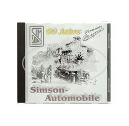 CD, SIMSON Automobile -Der fast vergessene Oldtimer- (Entwicklung SIMSON-Automobile 1911-1934, Ersatzteilkatalog, Werbekatalog, Zeitdokumente)