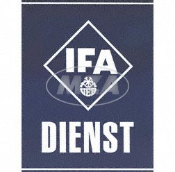 "Tin plate sign ""IFA DIENST"""