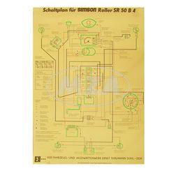 Schaltplan Farbposter (40x57cm) SR50 B4 6V , (beidseitig Glanzcello, schmutzabweisend)