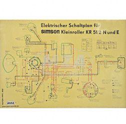 Schaltplan Farbposter (69x49cm) KR51/2N und E (beidseitig Glanzcello, schmutzabweisend)