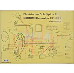 Schaltplan Farbposter (69x49cm) KR51/2 L electronic (beidseitig Glanzcello, schmutzabweisend)