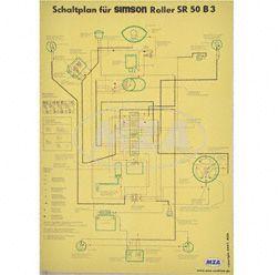 Schaltplan Farbposter (40x57cm) SR50 B3 (beidseitig Glanzcello, schmutzabweisend)