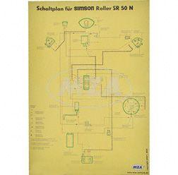 Schaltplan Farbposter (40x57cm) SR 50 N (beidseitig Glanzcello, schmutzabweisend)
