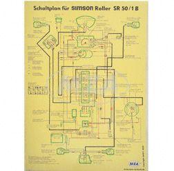 Schaltplan Farbposter (40x57cm) SR 50/1 B (beidseitig Glanzcello, schmutzabweisend)