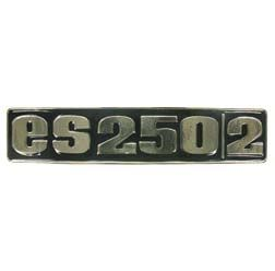 Kotflügelemblem, Plakette/ Zeichen für ES250/2 - Metall - gewölbt