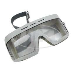 Motorradschutzbrille - Original DDR-Sportschutzbrille -  MARKE: SPORTURA - mit Sonnenblende, Einzelkarton