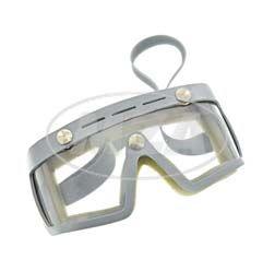 Motorradschutzbrille, Original DDR-Sportschutzbrille - MARKE: SPORTURA - mit Sonnenblende