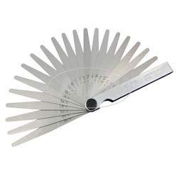 Präzisions-Ventillehre, Einstelllehre, Abstandslehre 0,05 - 1,00mm (Set mit 20 konischen Blättchen)