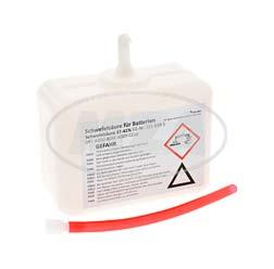 Batteriesäure - 450 ml-Plastikdose mit Einmalverschluss - 37% Schwefelsäure
