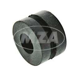 Pasacables de la amortiguamiento - PVC negro, Ø exteriores e interiores - 18 x 7, ancho de ranura 2,5, diámetro de fijación 13,8