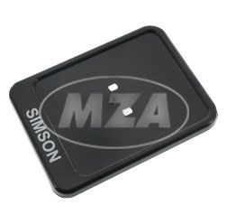 Identity plate support, black - 167x122mm - Print: SIMSON - underlayer for insurance sticker / reinforcement