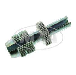 M6-Stellschraube, geschlitzt - Gesamtlänge 32 mm, Gewindelänge 20 mm - für Seil 2,2 mm, Hülse 6,5 mm