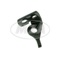 Soporte intermitente, frente derecho, recubrimiento de polvo negro para 10W (corto)