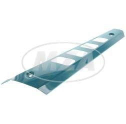 Hitzeschutz - f. kurzen Auspuff - S53/83 Beta - wasserblau pulverbeschichtet
