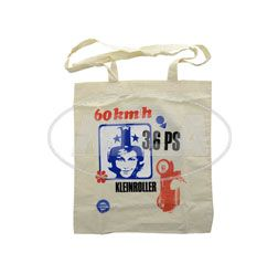 Stoffbeutel, Baumwolltasche, 4-fach Farbdruck: 60km/h, 3,6PS, Kleinroller - Retrodesign - 50 Jahre Schwalbe