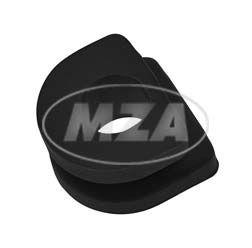 Gummiverschluss für Kabeldurchführung, schwarz - mit Loch - z.B. für Kabelsatz 10790