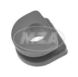 Gummiverschluss für Kabeldurchführung, grau - mit Loch - z.B. für Kabelsatz 10790